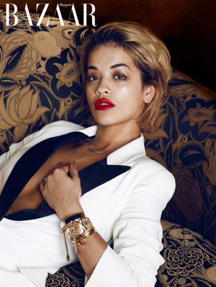 rita ora style for Harpers Bazaar UK January magazine