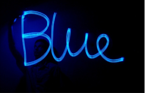 blue-writing