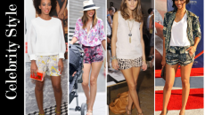 celebrity-style-printed-shorts